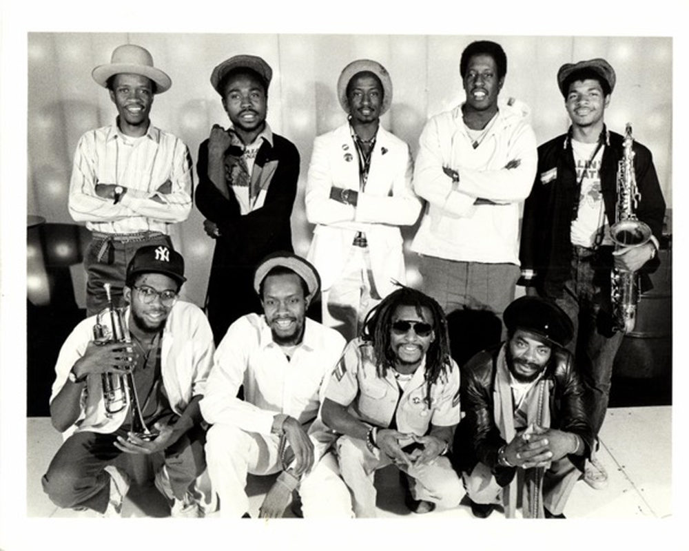 Healin' Of The Nations included Pablo, Rocky, Igene, Ace and Jeff from left to right in the back row. Kevin Bachelor, Errol Strength, Inando and Ipa from Zion. (Courtesy Cultures of Soul Records)