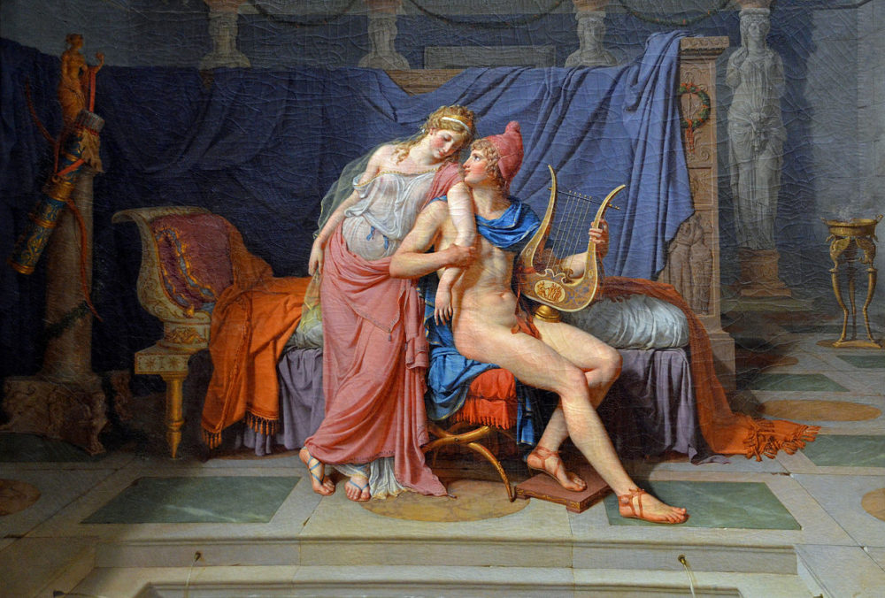 """Jacques-Louis David's """"The Loves of Paris and Helen."""" (Wikimedia Commons)"""