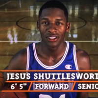 """Jesus Shuttlesworth, played by former NBA star Ray Allen. From the movie, """"He Got Game."""" Directed by Spike Lee."""