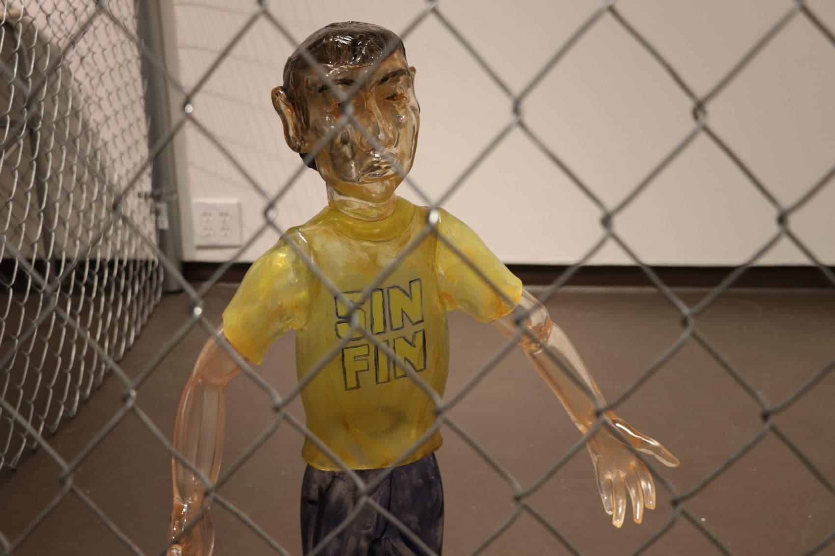 Jaime Guerrero's glass child. (Courtesy Fuller Craft Museum)