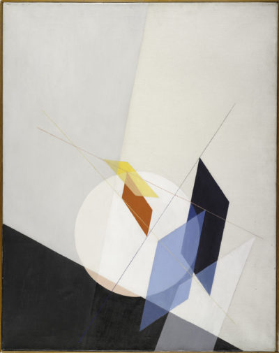 "László Moholy-Nagy's ""A 18,"" painted with oil on canvas in 1927. (Courtesy Harvard Art Museums)"