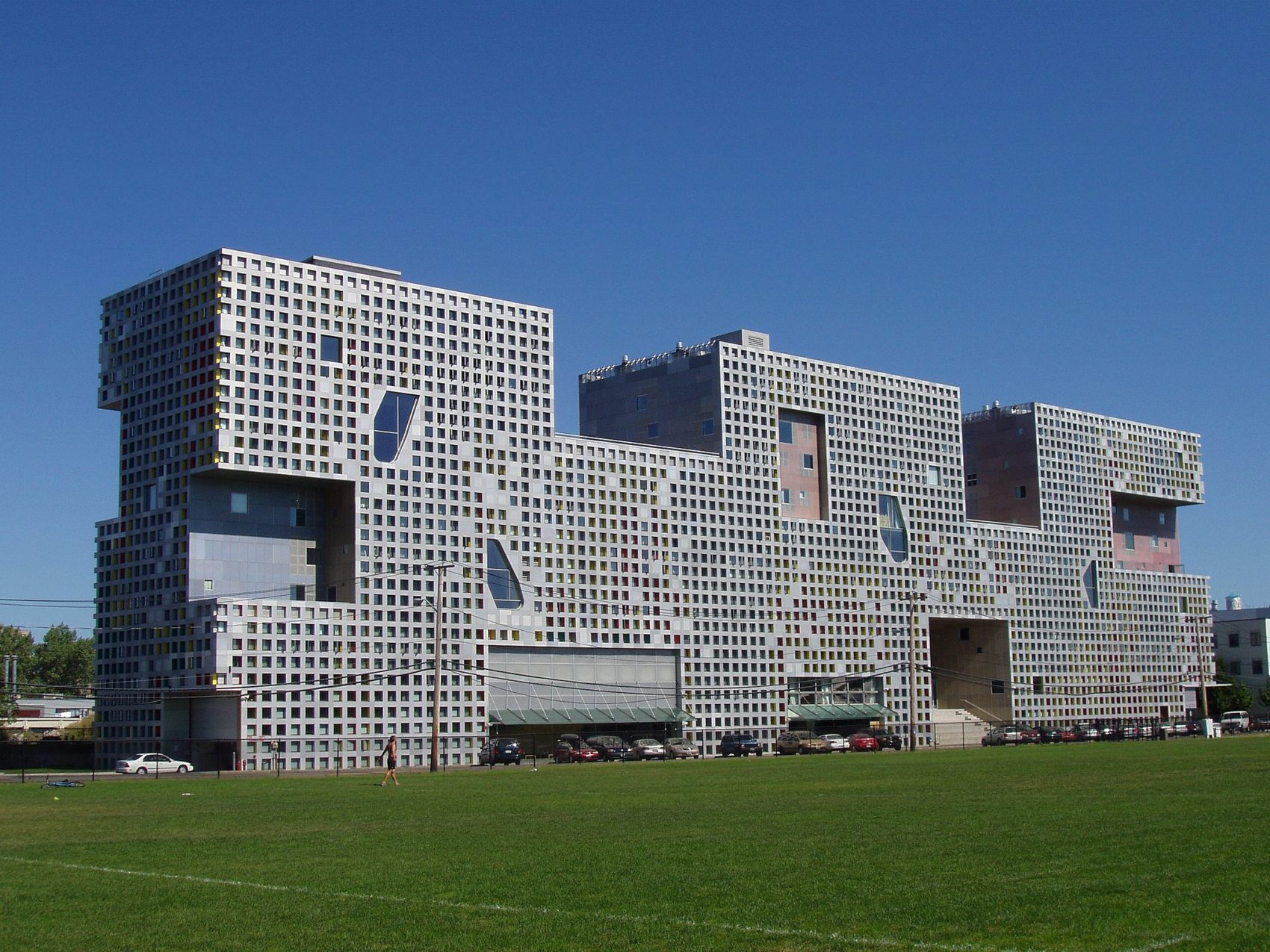 MIT's Simmons Hall in Cambridge. (Courtesy Daderot/Wikimedia Commons)