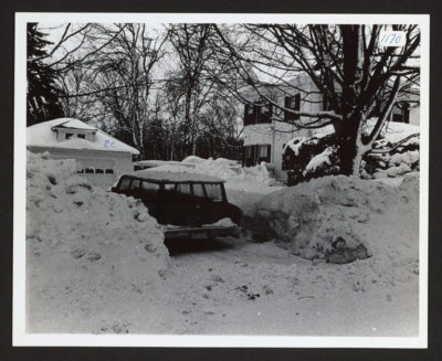 A scene from the late-February storm in 1969 (Courtesy of Thomas Mullins/Hamilton Historical Society via Digital Commonwealth)