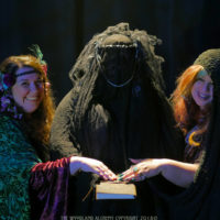 """The witches in """"The Woodland Alchemy."""" (Courtesy"""