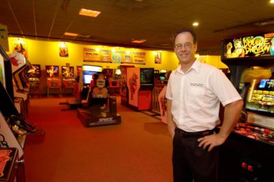 Gary Vincent and the American Classic Arcade Museum. (Courtesy Gary Vincent)