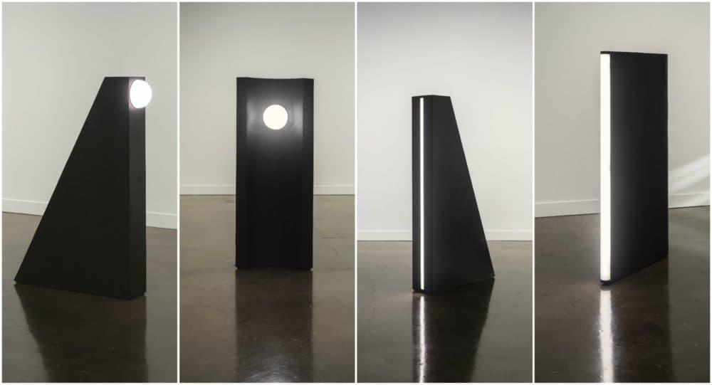 "Kapwani Kiwanga's ""Glow"" installed at MIT. (Courtesy Peter Harris Studio)"