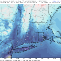 Temperatures should be above 40 by noon Friday. (Courtesy Weatherbell)