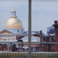 """The rat scampering across the ledge in front of the State House in the final scene of """"The Departed."""" (YouTube)"""