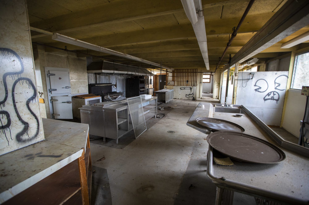 The former kitchen inside the dome. (Jesse Costa/WBUR)