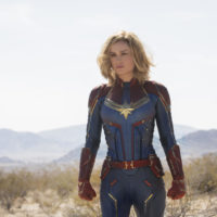 Brie Larson as Captain Marvel in the new movie. (Courtesy Chuck Zlotnick/Marvel Studios)