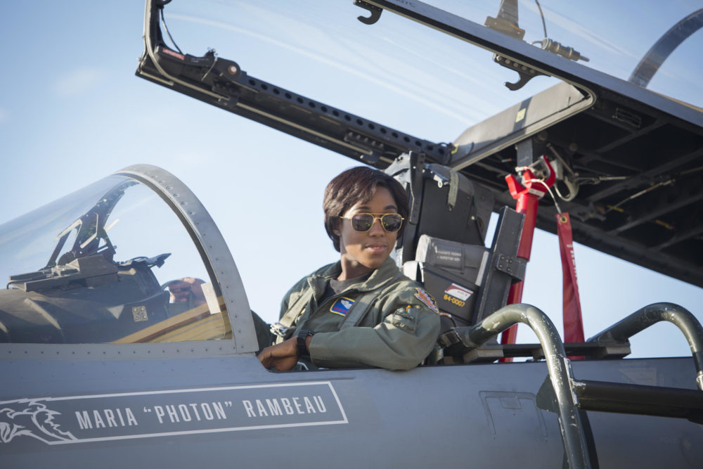 "Lashana Lynch as Maria Rambeau in ""Captain Marvel."" (Courtesy Chuck Zlotnick/Marvel Studios)"
