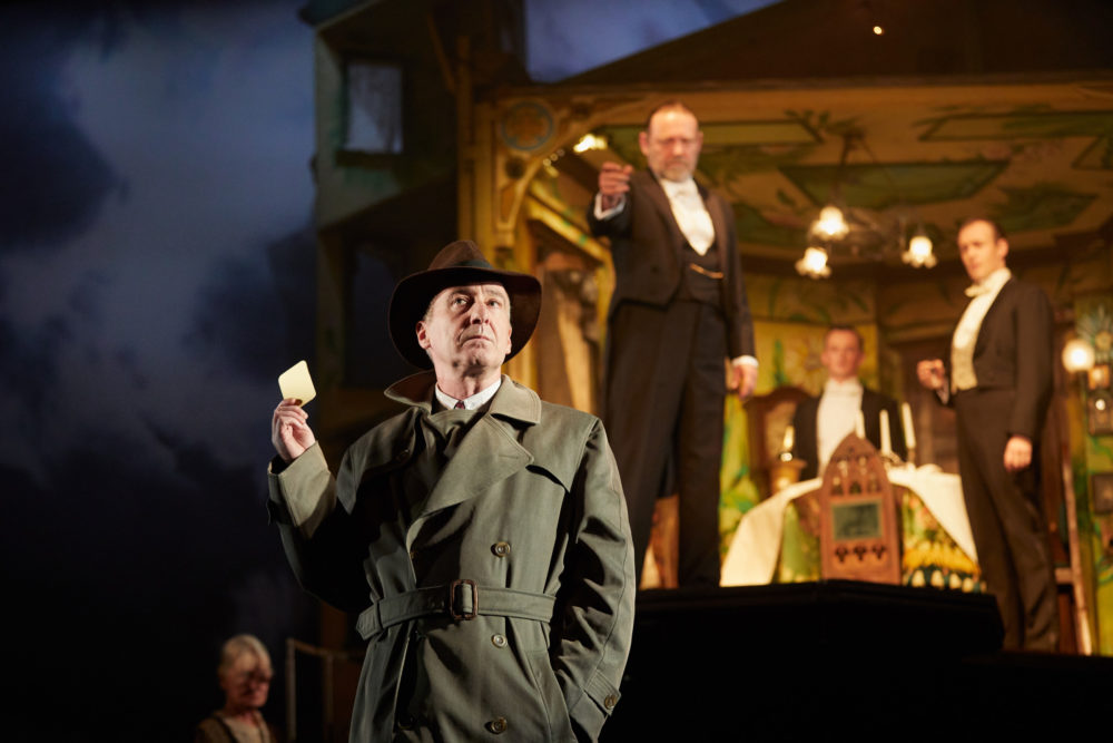 "Liam Brennan, Jeff Harmer, Hamish Riddle, Andrew Macklin in ""An Inspector Calls."" (Courtesy Mark Douet)"