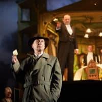 "Liam Brennan, Jeff Harmer, Hamish Riddle, Andrew Macklin in ""An Inspector Calls."" (Courtesy Mark Douet)"