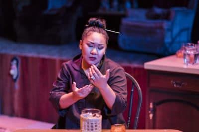 "Sara Porkalob in ""Dragon Lady."" (Courtesy Robert Wade/Intiman Theatre)"