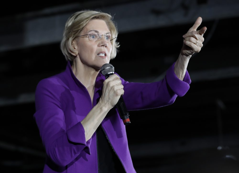 Elizabeth Warren on March 8 in the Queens borough of New York (Frank Franklin II/AP)