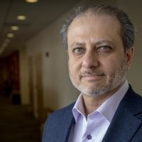 "Former U.S. Attorney Preet Bharara, author or ""Doing Justice."" (Robin Lubbock/WBUR)"