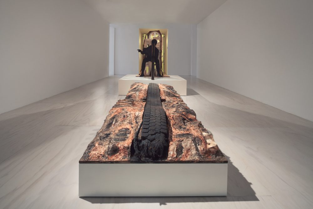 "Huma Bhabha's ""Unnatural Histories,"" created in 2012. (Courtesy of the artist and Salon 94)"