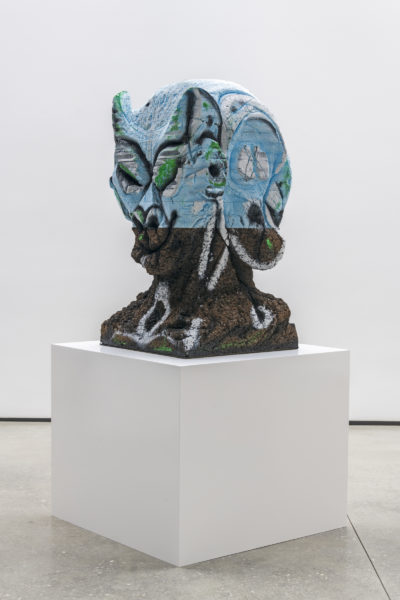 "Huma Bhabha's ""Four Nights of a Dreamer,"" created in 2018. (Courtesy of the artist and David Kordansky Gallery)"