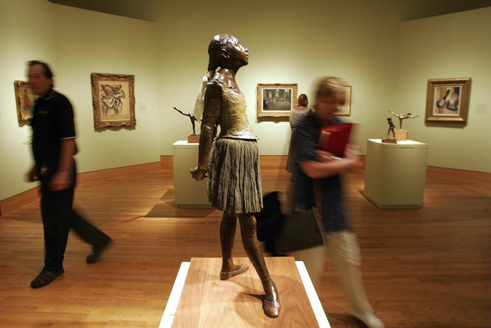 "The ""Degas at Harvard"" exhibit during a media preview at the Arthur M. Sackler Museum in Cambridge, Mass. on July 28, 2005. (Chitose Suzuki/AP)"