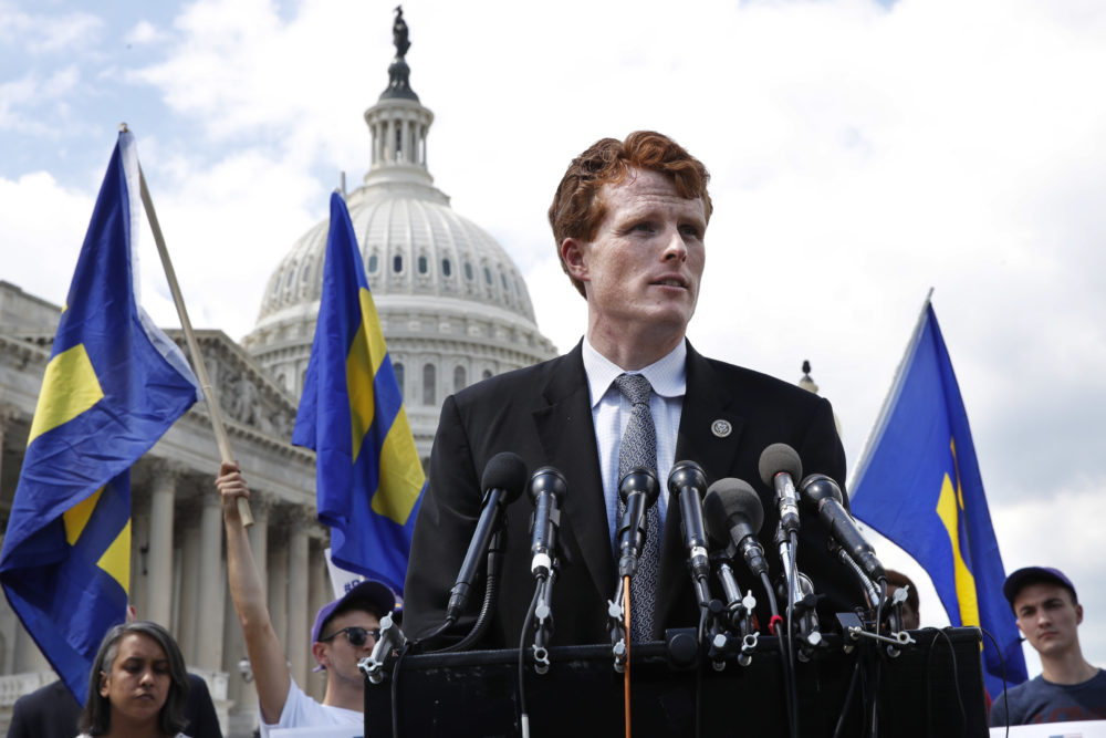 Rep. Joe Kennedy, D-Mass., speaks in support of transgender members of the military on July 26, 2017, on Capitol Hill. (Jacquelyn Martin/AP)