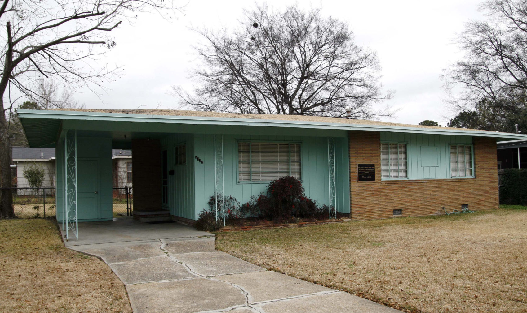The house of slain civil rights leader Medgar Evers is seen in Jackson, Miss. (Rogelio V. Solis/AP)