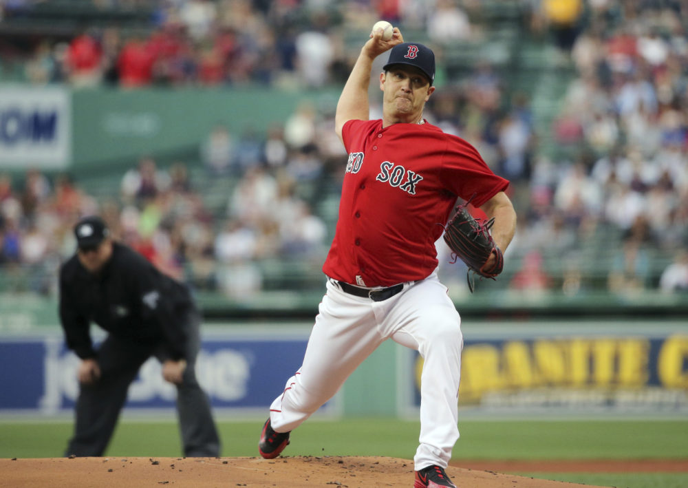 Boston Red Sox pitcher Steven Wright (Elise Amendola/AP)