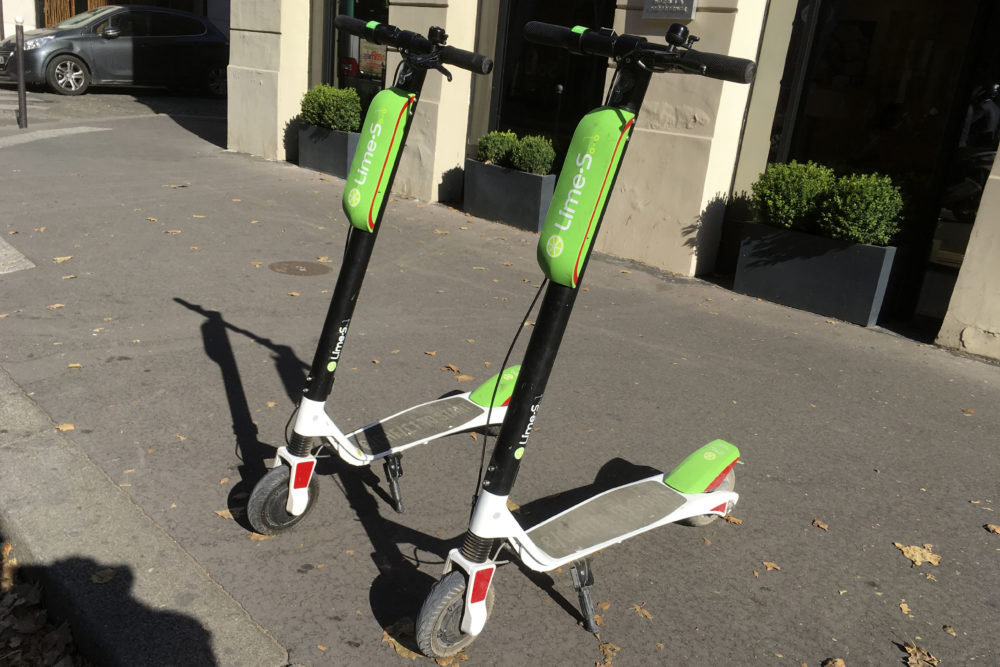 Lime scooters in Paris (Michel Euler/AP)