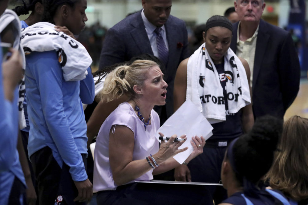 In her first season as a head coach, Nicki Collen led the Atlanta Dream to the playoffs. (Gregory Payan/AP)