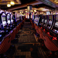 Slot machines on the main floor during a preview tour at the MGM Springfield casino (Charles Krupa/AP)