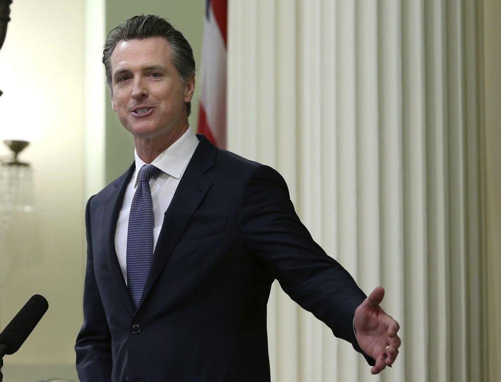 California Gov. Gavin Newsom will sign an order on Wednesday putting an executive moratorium on the state's death penalty. (Rich Pedroncelli/AP)