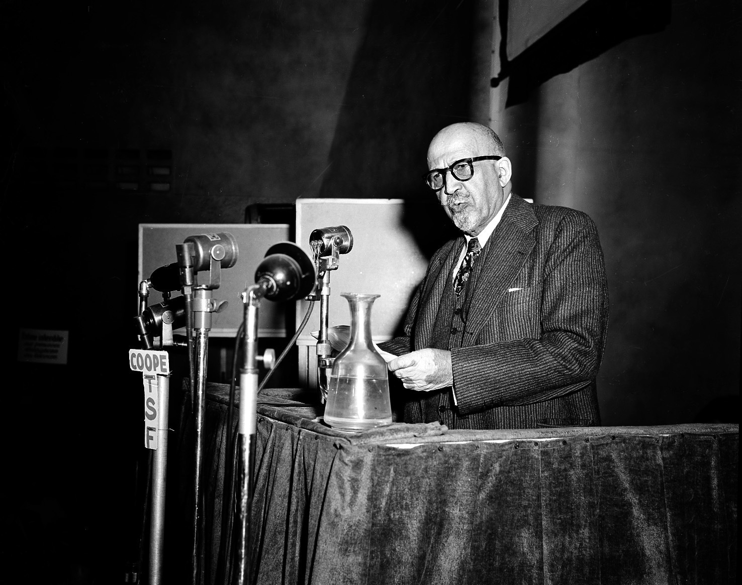 W.E.B. Du Bois, educator, writer and co-chairman of the U.S. delegation, addresses the World Congress of Partisans of Peace at the Salle Pleyel in Paris, France, on April 22, 1949. A Harvard University choir group that rejected author W.E.B. Du Bois when he was a student because he was black will be celebrating his work through a musical tribute. (AP Photo, File)
