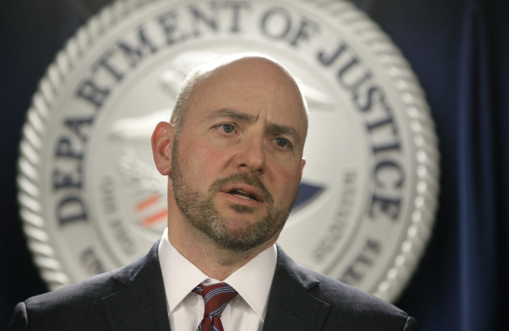 U.S. Attorney for District of Massachusetts Andrew Lelling on March 12, 2019, in Boston. (Steven Senne/AP)