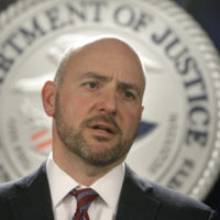 U.S. Attorney for District of Massachusetts Andrew Lelling announces indictments in a sweeping college admissions bribery scandal on Tuesday, March 12, 2019, in Boston. (Steven Senne/AP)
