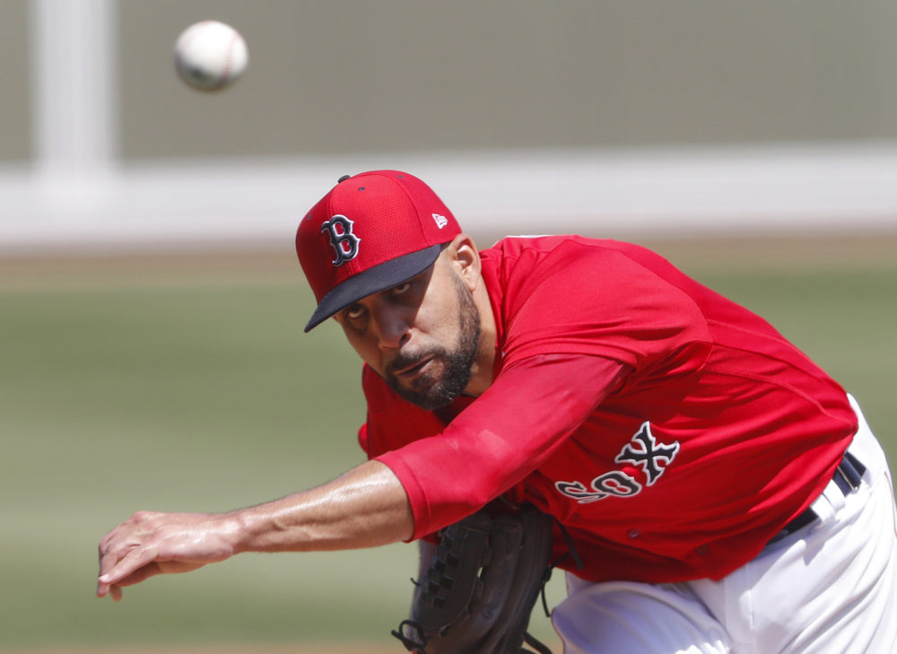 Boston Red Sox starting pitcher David Price in a spring training baseball on March 12 in Fort Myers, Fla. (John Bazemore/AP)