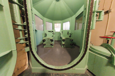 A pair of death penalty chamber chairs are seen before their removal at San Quentin State Prison, in San Quentin, Calif. (California Department of Corrections and Rehabilitation via AP)