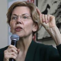Democratic presidential candidate Sen. Elizabeth Warren, D-Mass., speaks at a campaign house party, Friday, March 15, 2019, in Salem, N.H. (Elise Amendola/AP)
