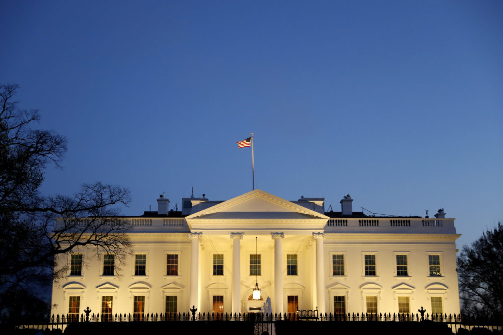 The White House is seen at dusk, Friday March 22, 2019, in Washington. (Jacquelyn Martin/AP)