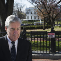 Special Counsel Robert Mueller walks past the White House after attending services at St. John's Episcopal Church, in Washington, Sunday, March 24, 2019. (Cliff Owen/AP)