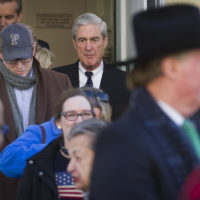 Special Counsel Robert Mueller exits St. John's Episcopal Church after attending services, across from the White House, in Washington, Sunday, March 24, 2019. (Cliff Owen/AP)