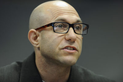Jeremy Richman, father of Sandy Hook Elementary school shooting victim Avielle Richman, addresses the Sandy Hook Advisory Commission on Nov. 14, 2014, in Newtown, Conn. (Jessica Hill/AP)