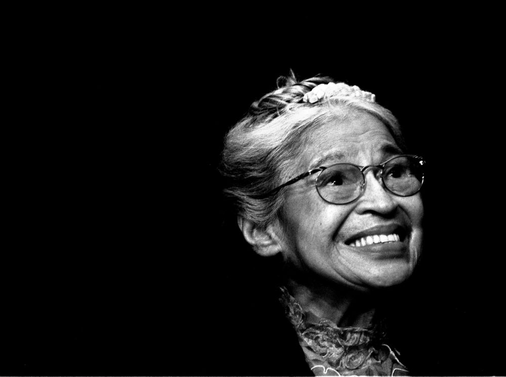 Rosa Parks smiles during a ceremony where she received the Congressional Medal of Freedom in Detroit, Mich., on Nov. 28, 1999. (Paul Sancya/AP)