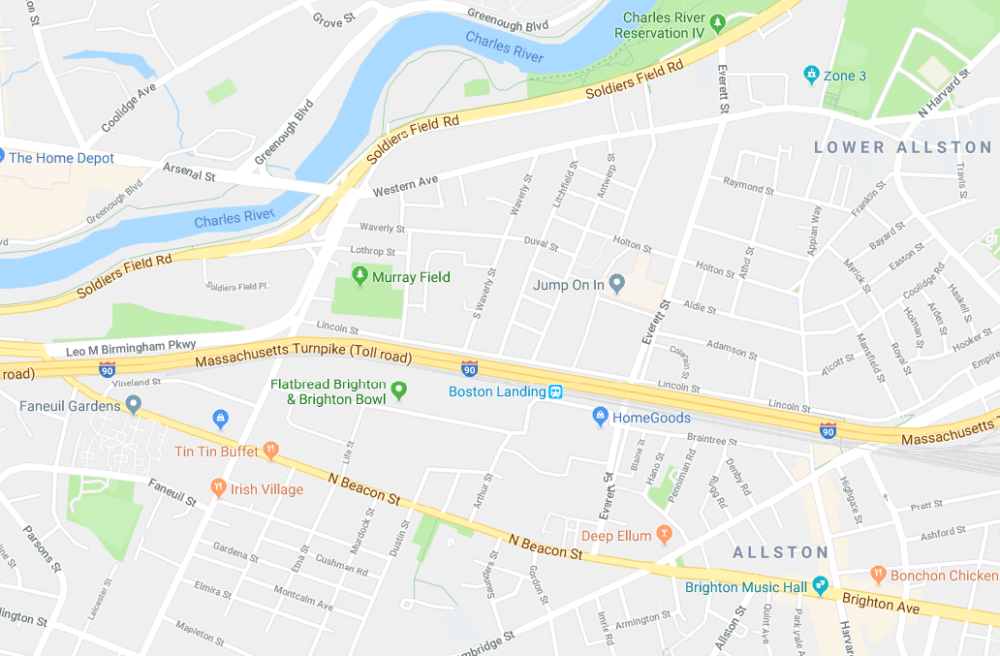 The Bowery Presents plans to open a new live music venue in Boston Landing. (Google Maps)