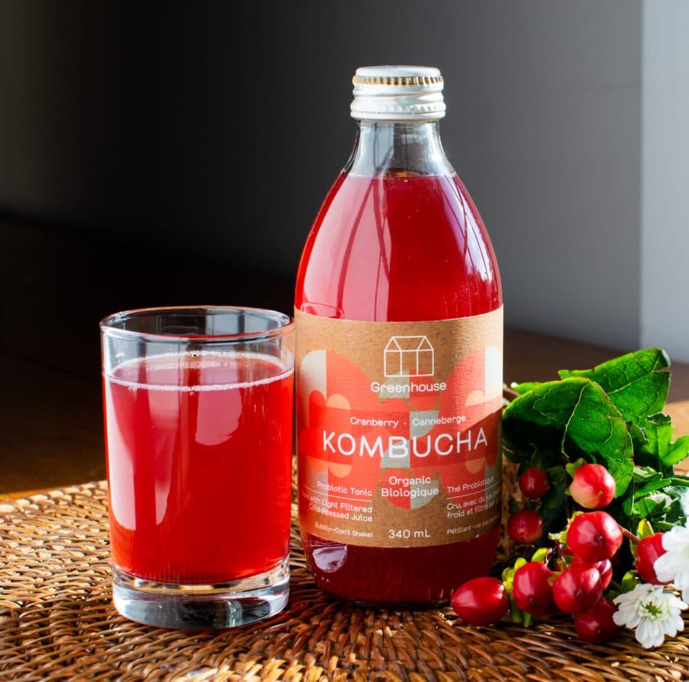 Cranberry kombucha Loop product (Courtesy of Loop)