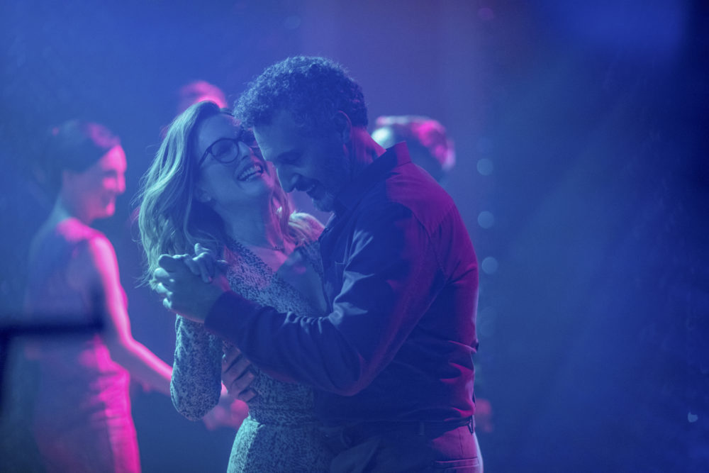 """Julianne Moore as Gloria and John Turturro as Arnold in """"Gloria Bell."""" (Courtesy of Hilary Bronwyn Gayle/A24)"""