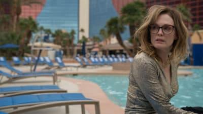 "Julianne Moore as Gloria in Sebastián Lelio's film ""Gloria Bell."" (Courtesy Hilary Bronwyn Gayle/A24)"