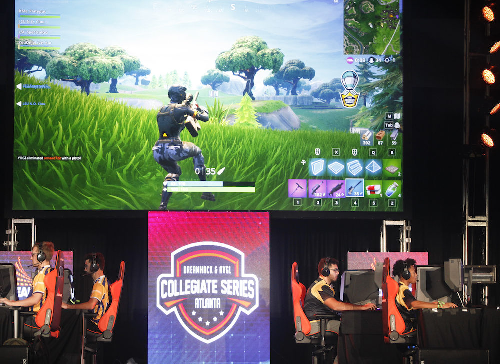 University students compete in the online game Fortnite during DreamHack Atlanta 2018. (Chris Thelen/Getty Images)
