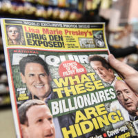 Amazon CEO Jeff Bezos is accusing the David J. Pecker, publisher of National Enquirer, the nations leading supermarket tabloid, of extortion and blackmail. (Stephanie Keith/Getty Images)