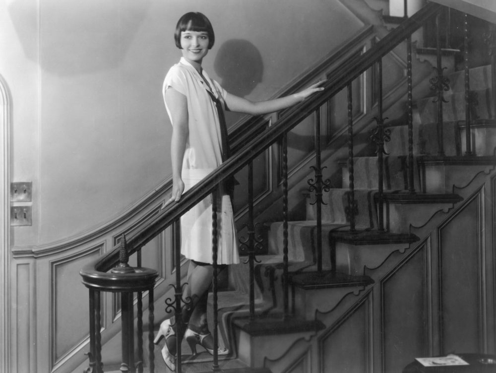 Circa 1925: Louise Brooks, a Paramount player, shows off her new house. (Hulton Archive/Getty Images)