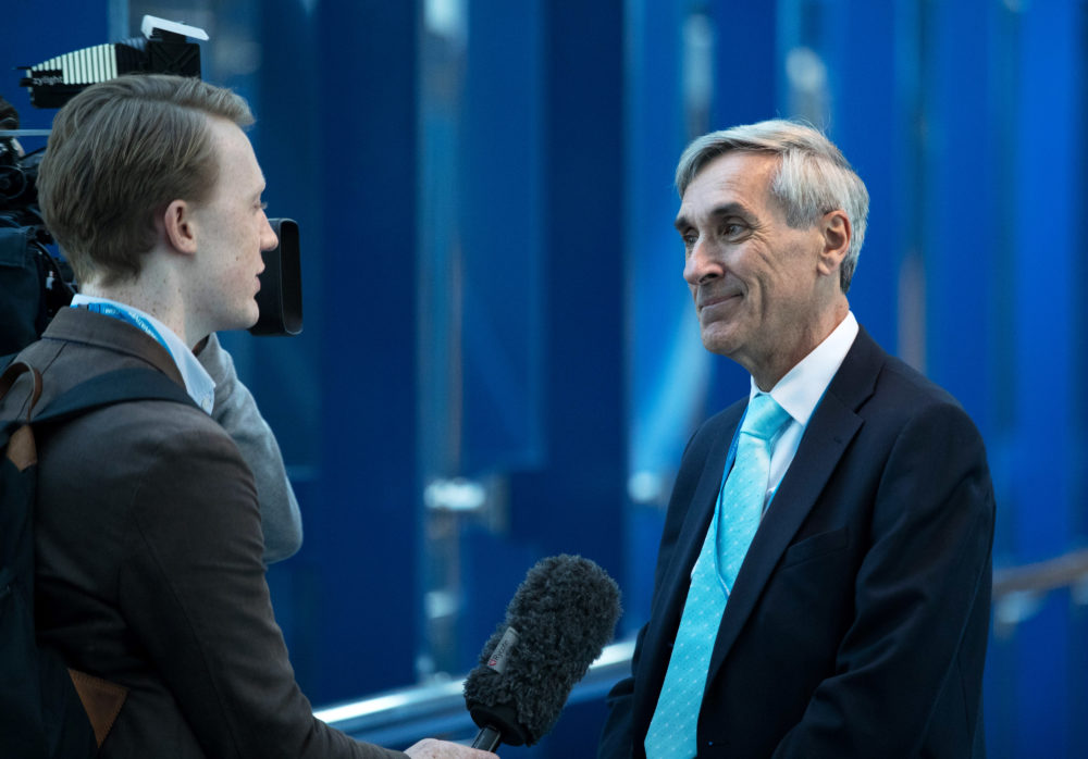 John Redwood arrives on the second day of the Conservative Party Conference 2016 at the ICC Birmingham on October 3, 2016 in Birmingham, England. (Matt Cardy/Getty Images)