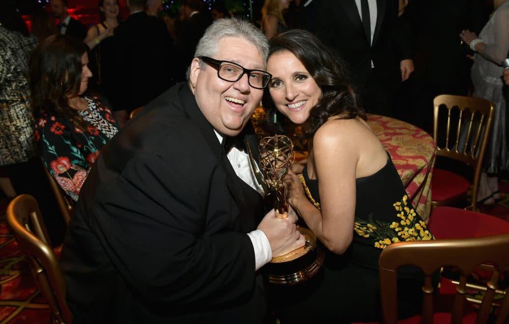 David Mandel and Julia Louis-Dreyfus attend HBO's Post Emmy Awards Reception on September 17, 2017, in Los Angeles. (Matt Winkelmeyer/Getty Images)